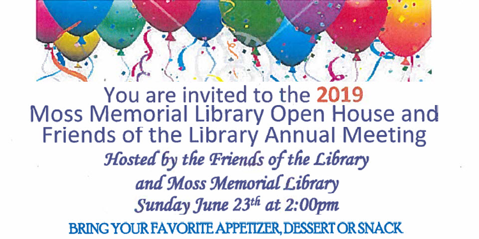 Moss Memorial Library Open House