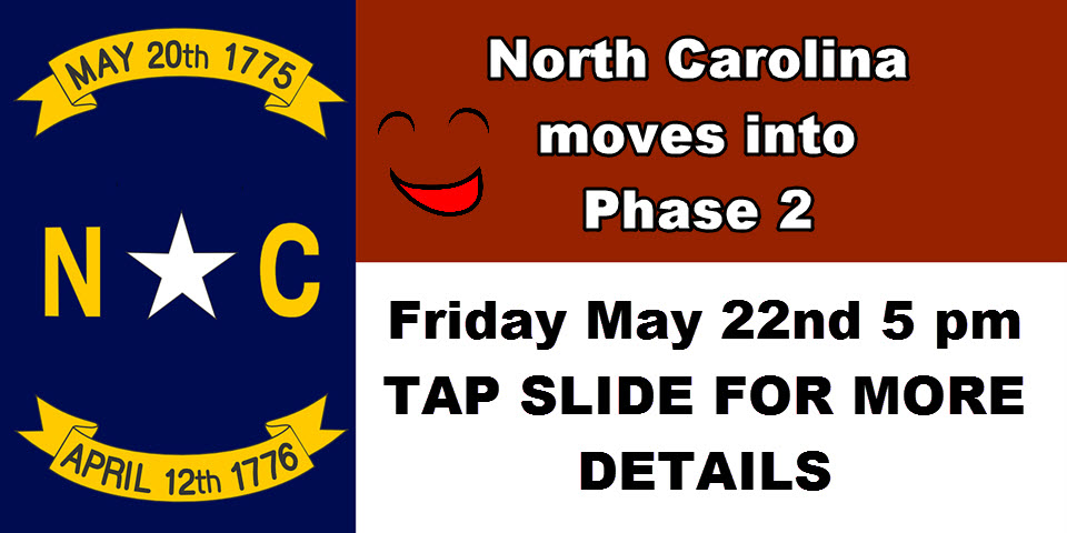 Opening North Carolina Phase 2