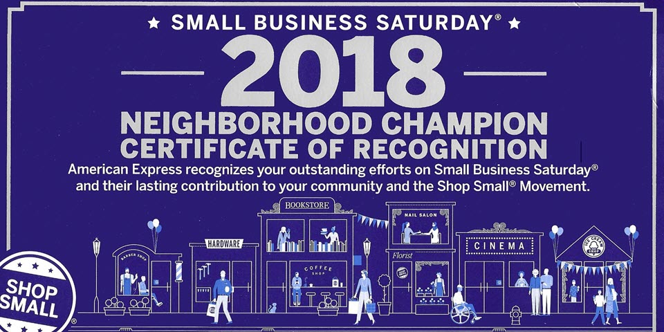 Small Business Saturday 2018 Award